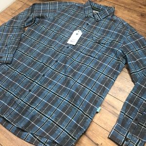 NWT VISSLA Men's flannel l/s shirt XL